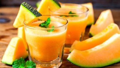طريقة عمل عصير الشمام باللوز