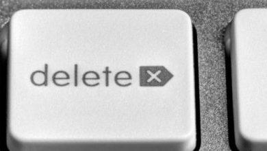 المفتاح الذي يحذف الحرف أو الرمز الذي يلي المؤشر هو