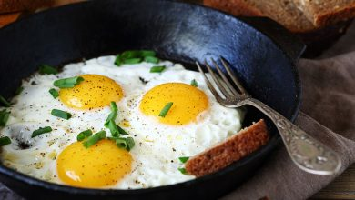 كم سعرة حرارية في البيض المقلي