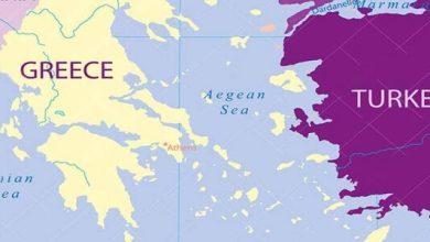 البحر الذي يفصل بين تركيا واليونان