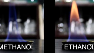 ما هو الفرق بين الإيثانول والميثانول