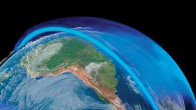 ينقسم الغلاف الجوي إلى خمس طبقات يزداد سمكها