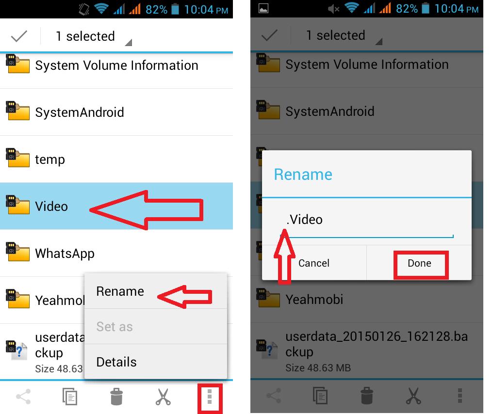 كيفية إخفاء الفيديوهات على هواتف الاندرويد